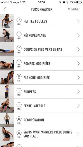 Nike Training Club Exercice